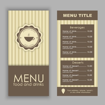 Cafe menusjabloon