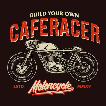 Cafe racer badge