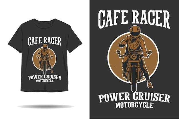 Cafe racer power cruiser motorfiets t-shirt ontwerp