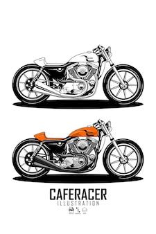 Caferacer illustratie