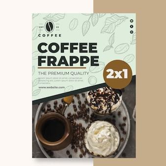 Cafetaria coffeeshop folder sjabloon