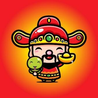 Cai shen design de god van welvaart