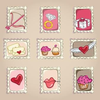 Cake & cupcakes-pictogrammen (conceptenlabels & kaarten)