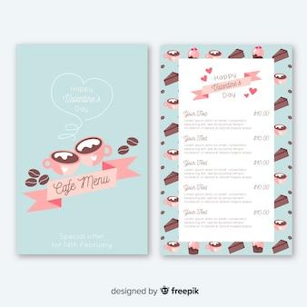 Cake en koffie valentijn-menu
