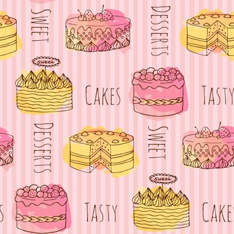 Cake patroon achtergrond