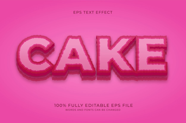 Cake teksteffect