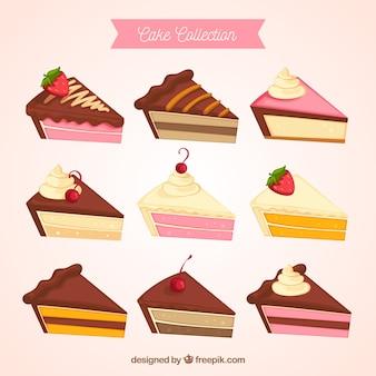 Cakes collectie in hand getrokken stijl