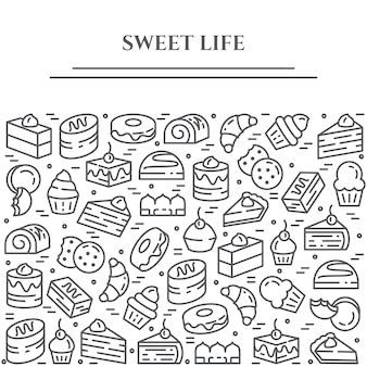 Cakes en koekjes thema banner