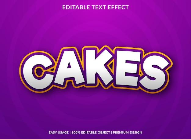 Cakes teksteffect bewerkbare sjabloon premium stijl