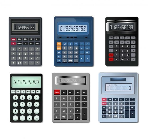 Calculator vector zakelijke boekhouding berekening technologie berekenen