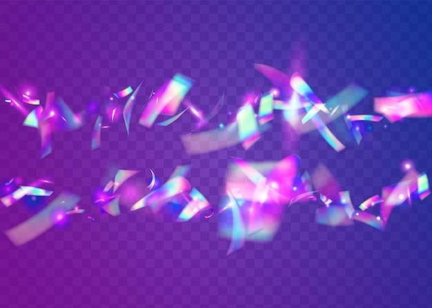 Caleidoscoop schittering. realistische achtergrond vervagen. neontextuur. blauw metaaleffect. kristal folie. surrealistische kunst. disco flyer. cristal glitter. violet caleidoscoop schittering