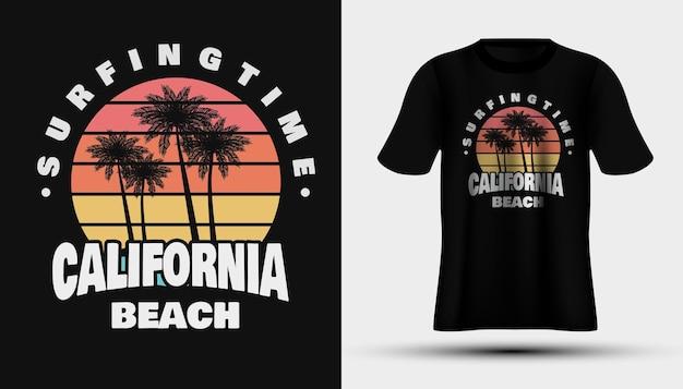 California beach t-shirt ontwerp
