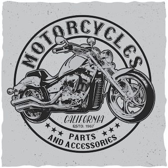 California motorcycles-label