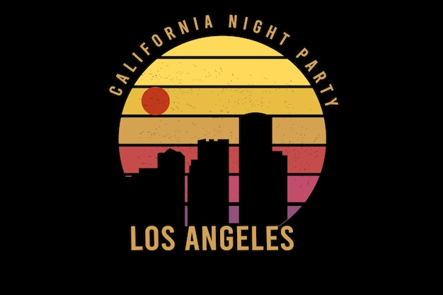 California night party kleur geel en oranje