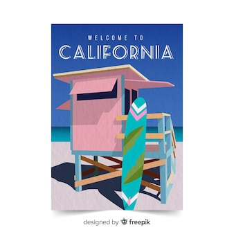 Californië promotionele poster sjabloon