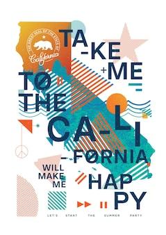 Californië zal me een gelukkige illustratie maken