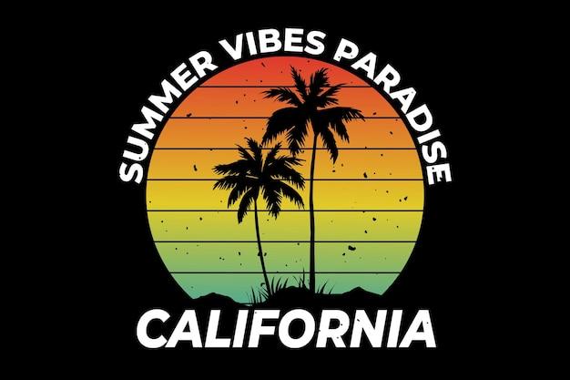 Californië zomer vibes paradijs retro stijl