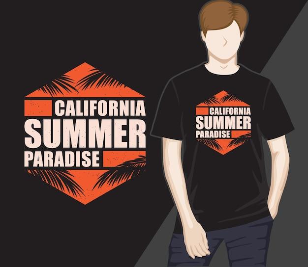 Californische zomerparadijs typografie t-shirtontwerp