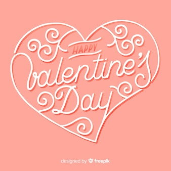 Caligraphic valentijn achtergrond