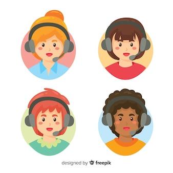 Call center avatar pack