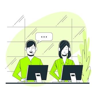 Call center concept illustratie