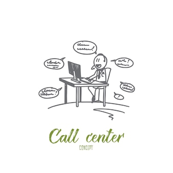 Call center concept illustratie