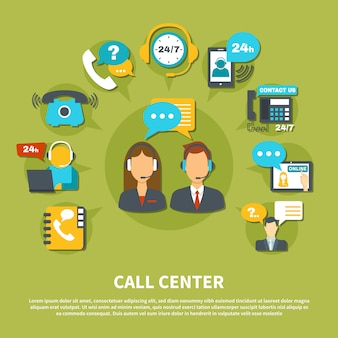 Call center illustratie