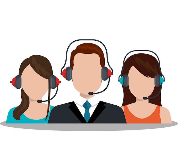 Call center service illustratie