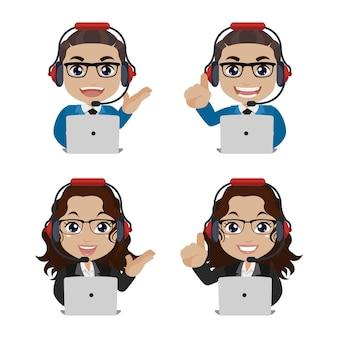 Callcenter en klantenservice karakter