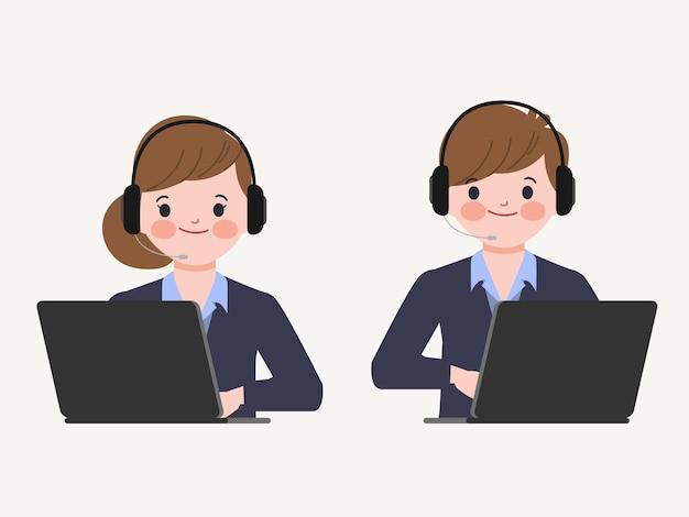 Callcenter en klantenservicekarakter.