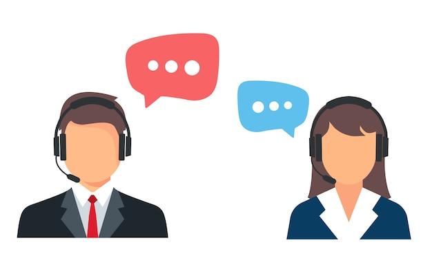 Callcenter. hulp, ondersteuning en contact.