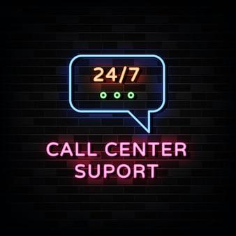 Callcenter neon.