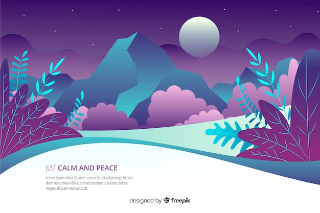 Calm and peace landing page