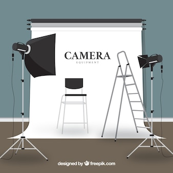 Camera-apparatuur illustratie