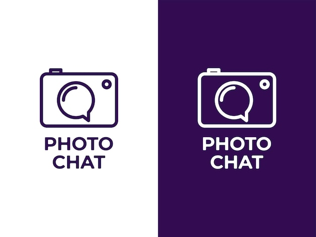 Camera chat logo ontwerpconcept