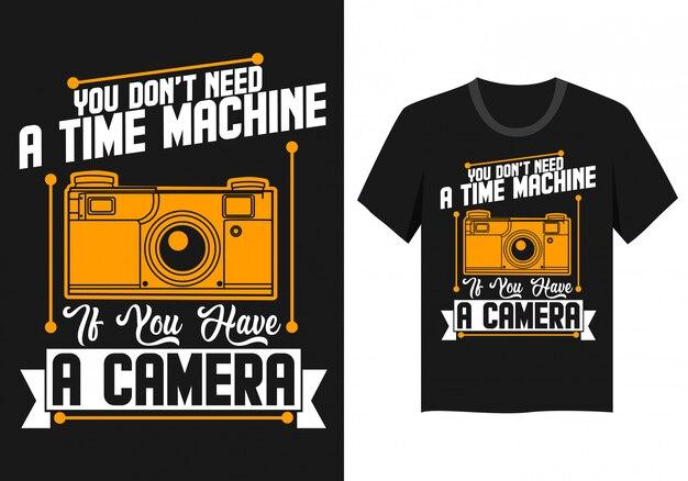 Camera citaat t-shirt