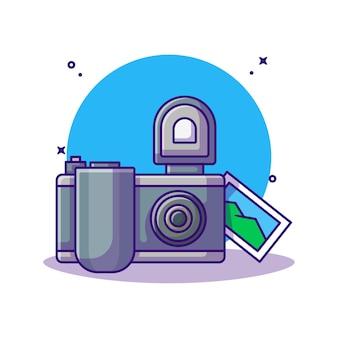 Camera en beeldcartoon. fotografie concept.