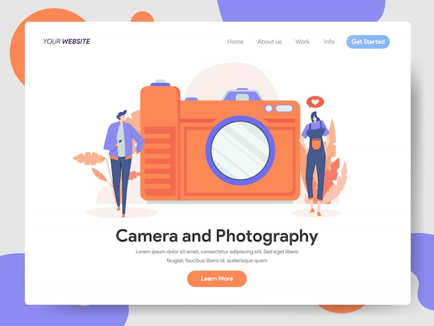 Camera en fotografie illustratie