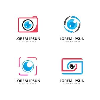 Camera fotografie logo vector pictogrammalplaatje