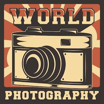 Camera fotografie rustieke klassieke retro vintage illustratie