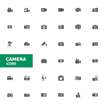 Camera icon set voor web en mobiel