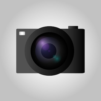 Camera in vlakke stijl