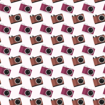 Camera naadloze patroon achtergrond sjabloon