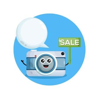 Camerakarakter met verkoop aankondigen