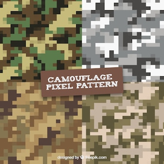 Camouflage digitale pixilated vectorpatronen