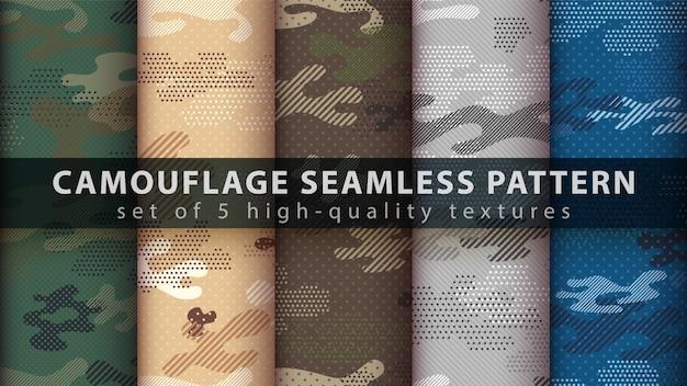 Camouflage militair naadloos patroon - idee om af te drukken.
