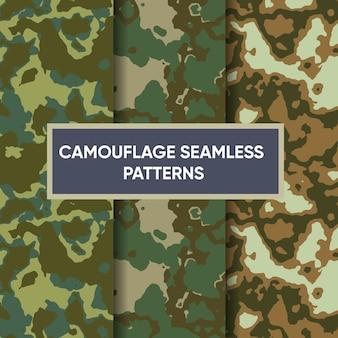 Camouflage militair naadloos patroon premium vector