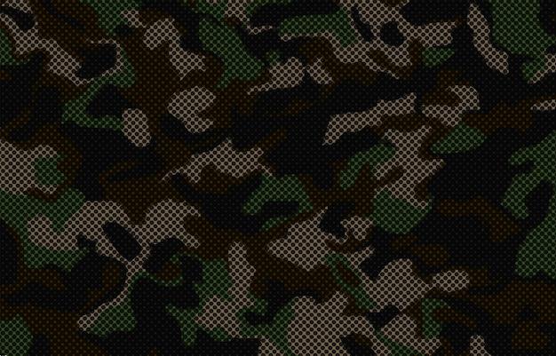 Camouflageachtergrond met halftone effect