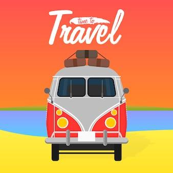 Camper busje. zomervakantie.