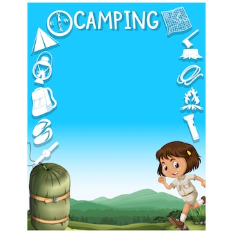 Camping achtergrond ontwerp